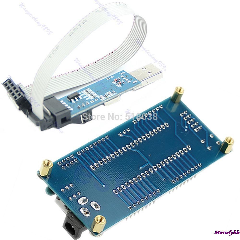 OOTDTY New 1set ATMEL For ATMEGA16 ATmega32 AVR Minimum System Board USB ISP USBasp Programme