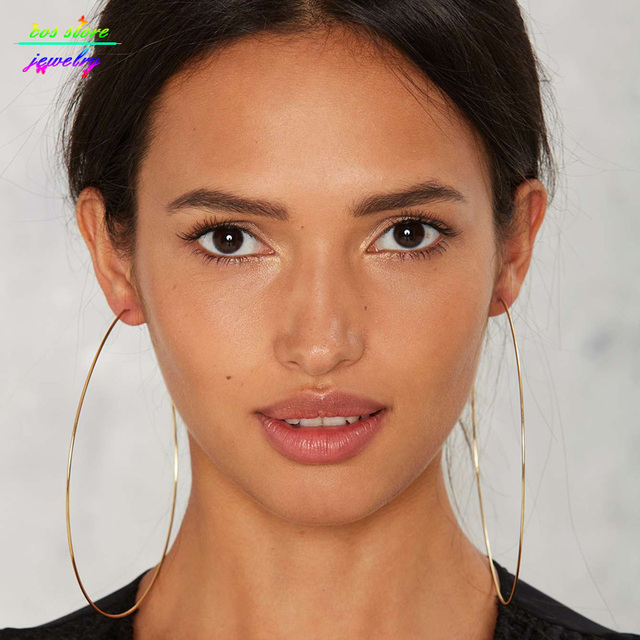 12cm Super Y Elegant Circle Xl Hoop Earrings Oversized For Women Bijoux