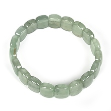 Pure green and transparent pearl Dong ling Jasper gem square bracelet, real solemn