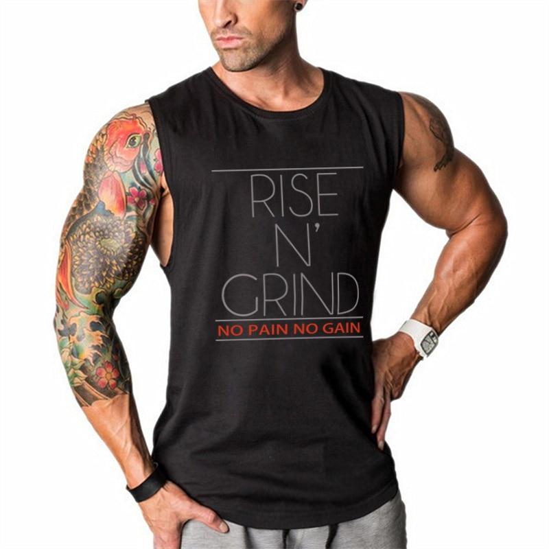 Muscleguys Brand Bodybuilding Stringer Tank Tops Men Fitness Singlets Gyms Clothing Mens Sleeveless Shirt Vest