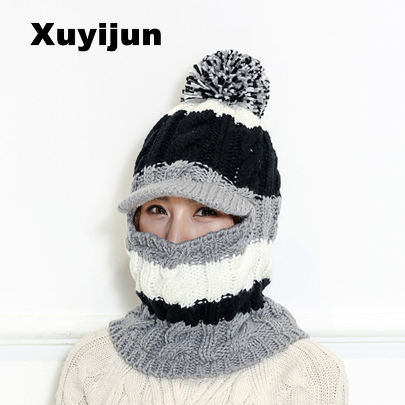 XUYIJUN Brand Skullies Beanies Winter Hat For Men Women Fashion Hot Cap Elastic Unisex Knit Beanie Hats Drop Shipping skullies
