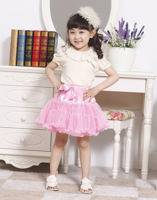 Summer Girls tutu Skirt Fashion Tulle Candy Color Princess Skirt Brands Cute Style Birthday Party Girls Skirts children clothing