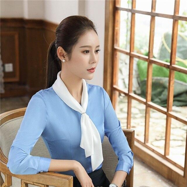 7d790fc83542 € 18.76 |Nueva llegada Formal de estilos blusas manga larga Camisas de  mujer para mujeres de negocios de trabajo blusa ropa de mujer Tops Plus ...