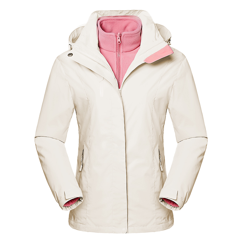 3 in 1 Skiing Hiking Jackets Men Women Waterproof Breathable Coat Trekking Sport Windbreaker Winter Thermal