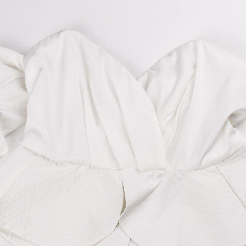 Blusas Shoulder Summer Tees 2017 Women Sexy Blouse Top Off Cotton Cool white Black Shirt white Ruffled Sipaiya Sleeve Puff Black pTxAFF