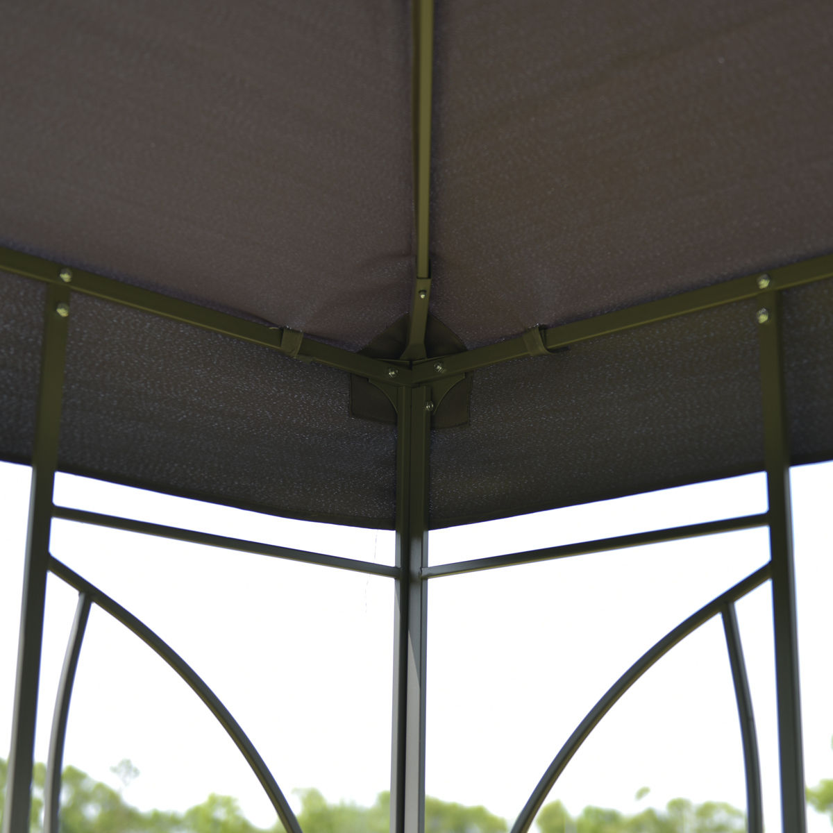 Goplus Terrasse 10\' X 10\' Platz Pavillon Baldachin Zelt Stahlrahmen ...