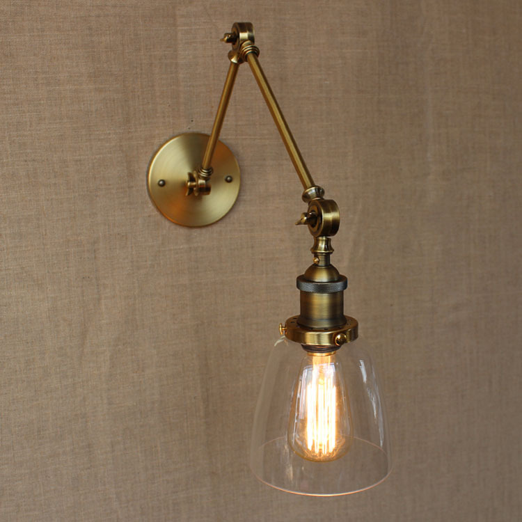 American Countryside Loft Style Wall Light Bedroom Study Wall Lamp Retro Edison Bulb Industrial Decoration Light Free Shipping 1 2 head american countryside retro style wrought iron loft wall lamp bedroom light coffee shop decoration lamp free shipping