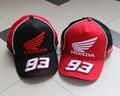 Moto moto gp honda 93 racing team preto vermelho boné de beisebol snapback ajustável chapéu bordado hip hop snapback cap golf