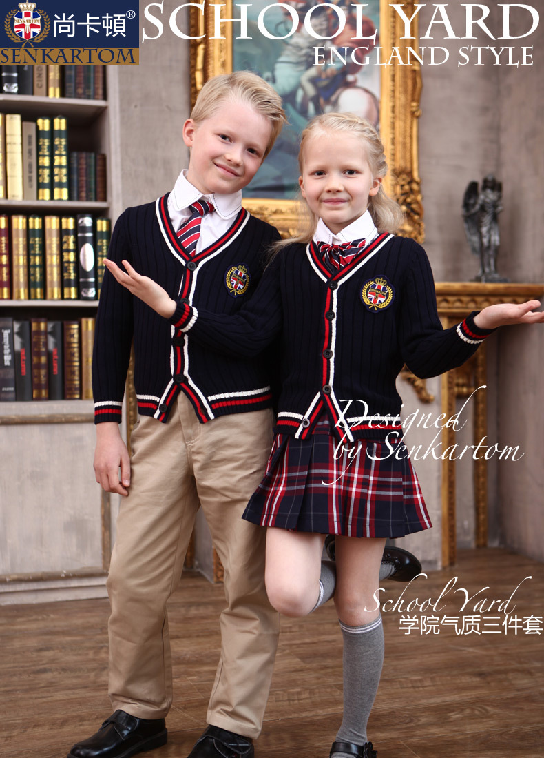 Full Cotton Girlsboys Polo Sweater,Cardigan Sweater, Children Sweater Dress Unisex -5424