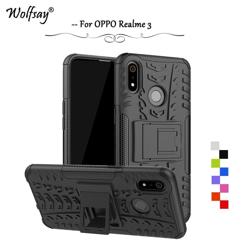 OPPO Realme 3 Case Shockproof Armor Rubber Silicone Hard PC Phone Case For OPPO Realme 3 Back Cover OPPO Realme 3 Shell Fundas