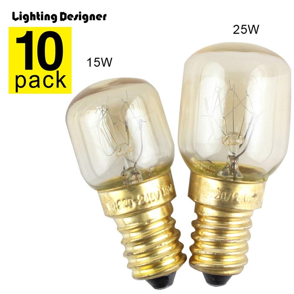 4 x Himalayan Salt Lamp Bulb 25w E14 Screw in Pygmy Bulbs Fridge Appliance Oven