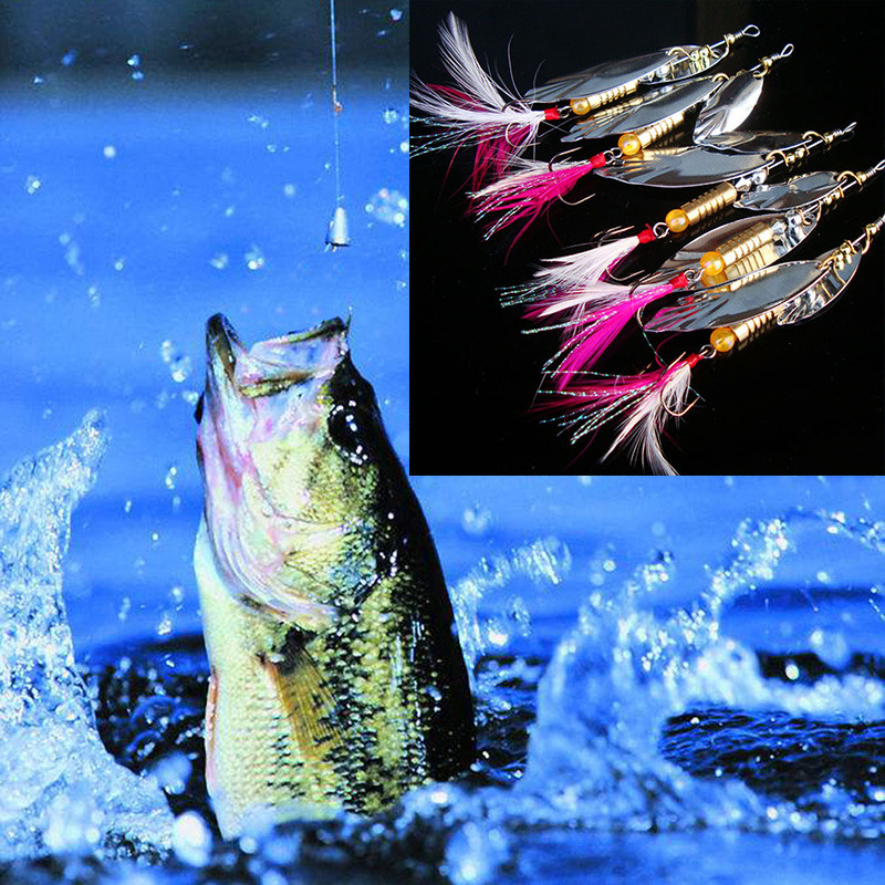 5pc Lures Fishing Bait Metal Sea Swimbait Shad Lot Baits Spoon 2017 New Attractive Fishes Nearby Apr19