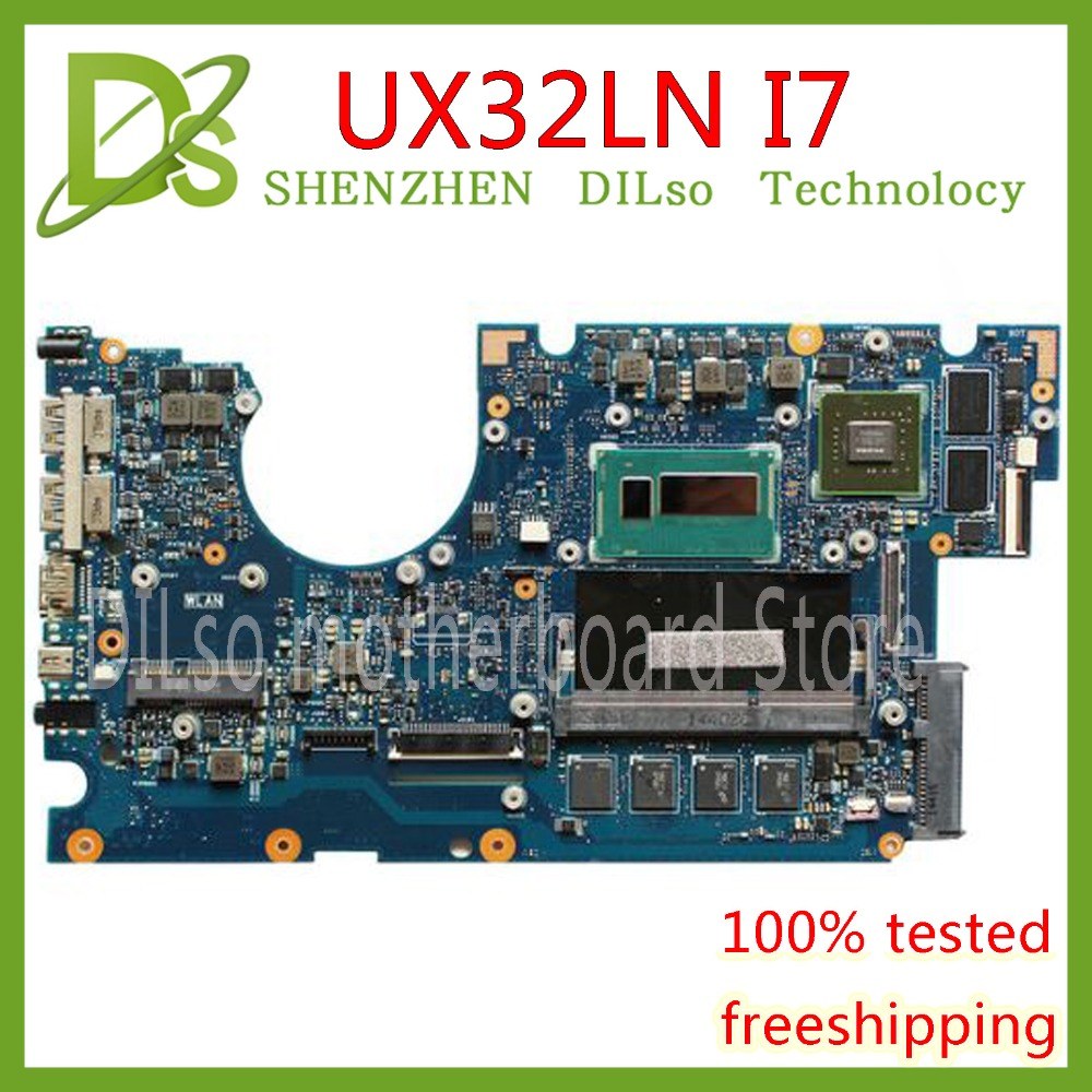 KEFU UX32LA motherboard for ASUS UX32LN i7 4500 CPU GT840M 4GB N15S GT S A2 laptop motherboard original Test mainboard