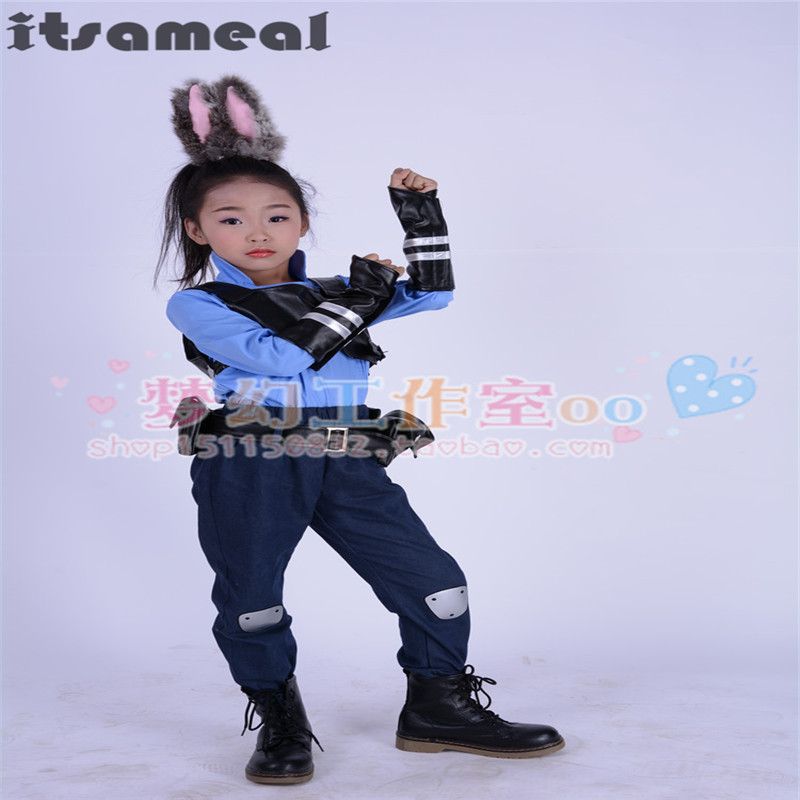 New Movie children Zootopia Cosplay Officer Judy Cosplay Costume Outfit Bunny Ears Police Unform with Full  sc 1 st  AliExpress.com & New Movie children Zootopia Cosplay Officer Judy and nick Cosplay ...