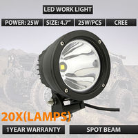 Factory Wholesale 20x Led Cannon Black 4 5in 25W Narrow LED Light DHL Free Shipping In