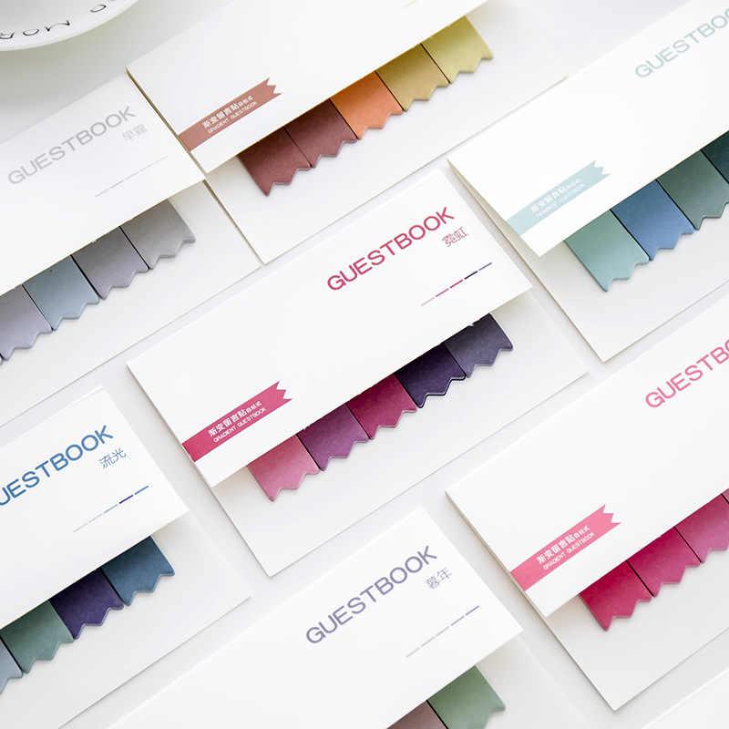 Bricolage dégradé couleur bureau créatif nouveauté Notes autocollantes planificateur autocollants Page Index poste bureau de poste fournitures scolaires papeterie