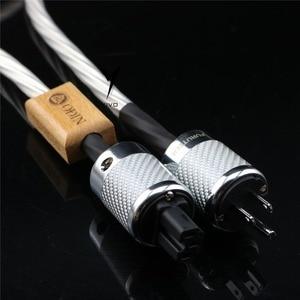 Image 4 - XSSH audio amerykański płyta audio CD wzmacniacz lampowy wzmacniacz 14mm 7 rdzeń 15AWG posrebrzane US ue IEC 3 szpilki 2 pins rysunek kabel zasilający IEC przewód