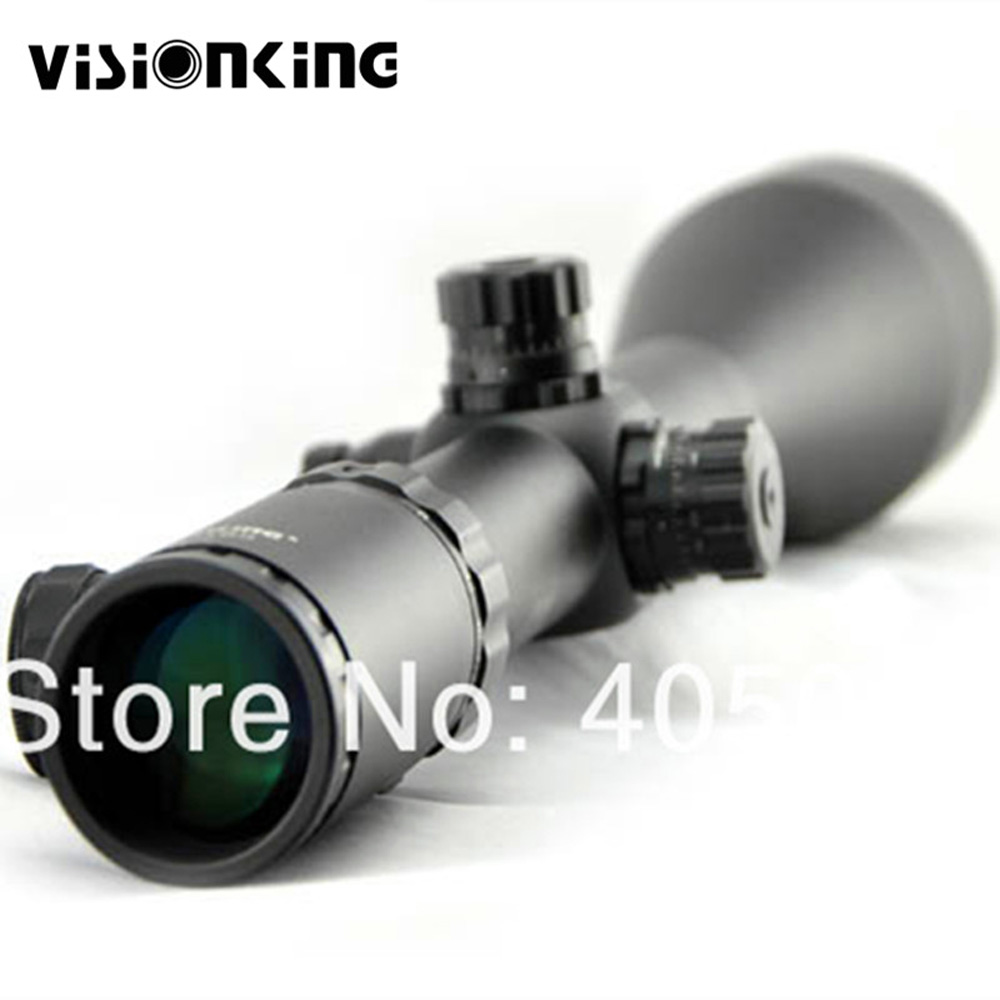 Visionking 4-48x65 Wide Field Of View Riflescope 35mm Rifle Scope Tactical Scope W/11mm Mount Rings&Sunshade Hoods visionking 4 48x65 wide field of view riflescope mil dot 35mm rifle scope tactical waterproof military scope for rifle hunting