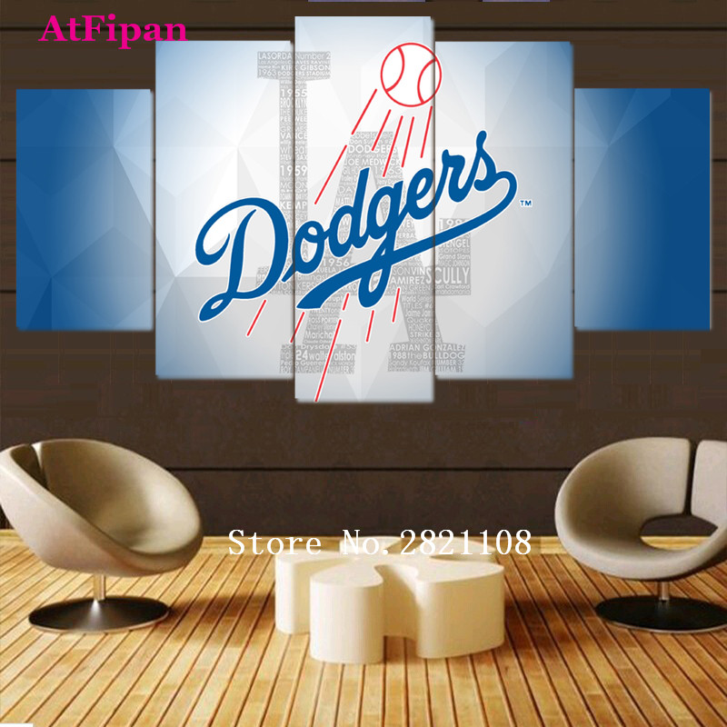 Atfipan Canvas Prints Abstract Sport Baseball Team Wall Art Fashion Home Decor Vintage Wall Pictures For