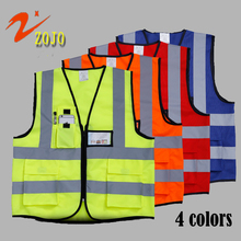 Famous Brand ZOJO Safet Vest Safety Clothing 4colors Workplace Safety Supplies Outdoor Cycling Jacket Reflective Safety VestV025