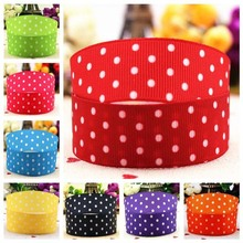 hot deal buy 22mm 7/8 purple polka dot cartoon brocade ribbon printing 10 yards hair accessories garment accessories and gift wrapping bag