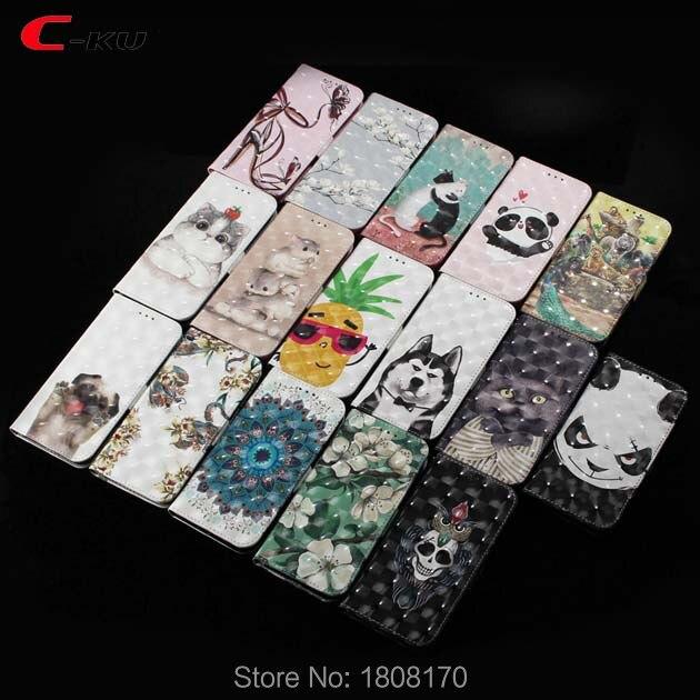 C-Ku 3D Fleur Portefeuille En Cuir étui pour samsung Galaxy A8 A6 Plus 2018 J3 J4 J6 J8 J330 J530 J730 S8 S9 Peau Housse 50 pcs