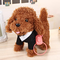 Crianças Presentes de Feriado de Aniversário Figura de Ação de animais de Estimação Eletrônicos Cão Robô brinquedos Plsuh Casca de Stand Pé Brinquedos de Pelúcia Cães cão