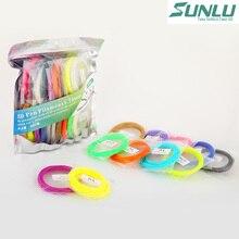 Sunlu оригинальная поставка 20 цветов 5 м PLA 3D ручка накаливания 1,75 мм для 3d doodle/3d Ручка для рисования