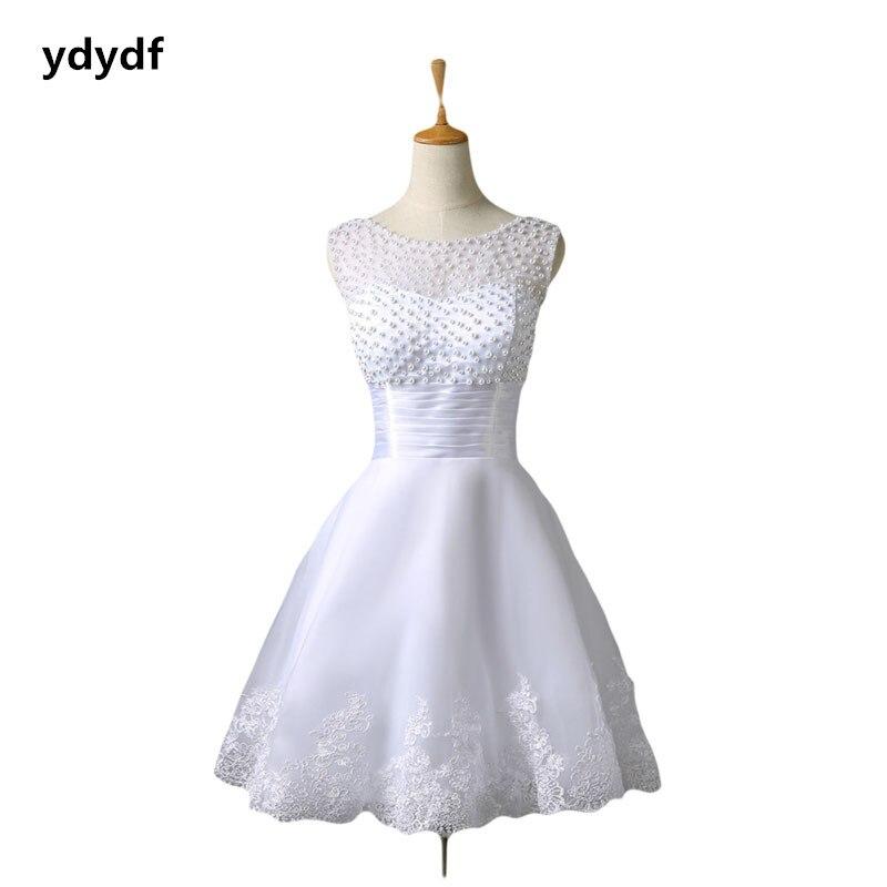 Европейский Ретро короткие свадебные платья плюс размер 2-12 (лин)