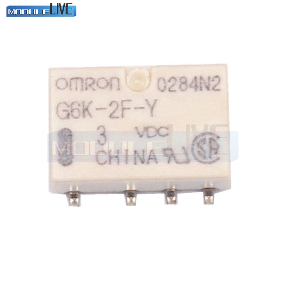 5PCS SMD G6K-2F-Y Signal Relay 8PIN for Omron Relay DC 3V 10pcs lot signal relay g6k 2f rf 12vdc 8 foot chip