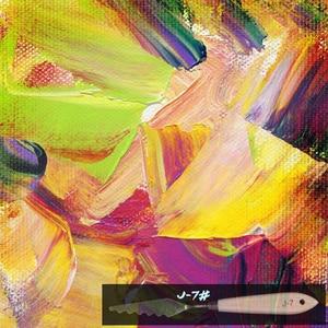 Image 3 - 10 قطع/مجموعة مختلطة من الفولاذ المقاوم للصدأ لوحة مكشطة مجموعة لوحة الطلاء السكاكين شفرة للفنان النفط الاكريليك أدوات الرسم