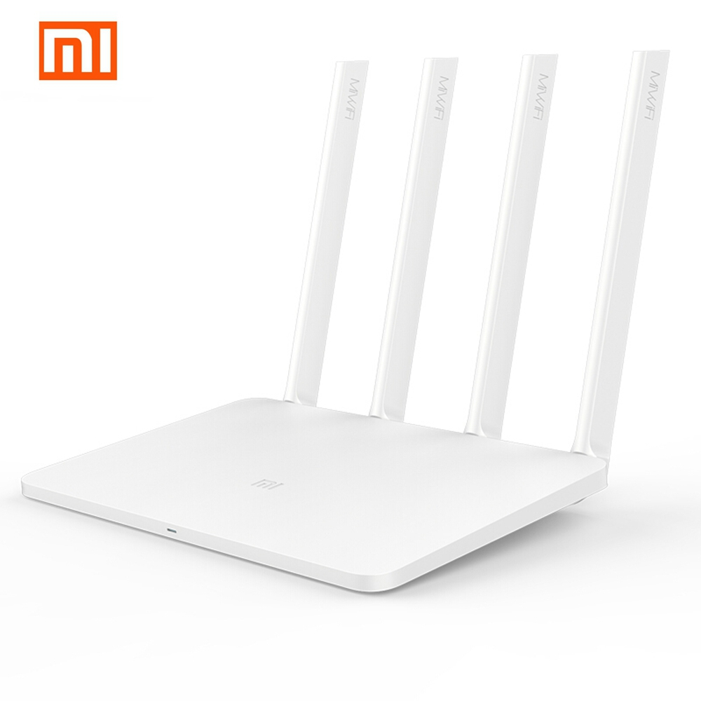Xiaomi MI WiFi Wireless Router 3 English Version 1167Mbps WiFi Repeater 4 Antennas 2.4G/5GHz 128MB ROM Dual Band APP Control original xiaomi mi router pro wifi repeater 2533mbps 2 4g 5ghz dual band app control wifi wireless metal body mu mimo routers