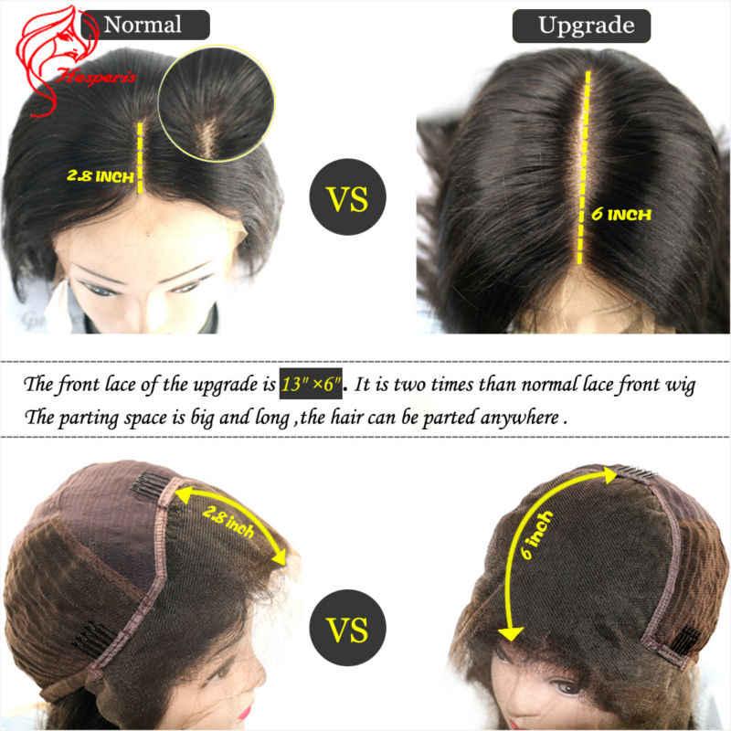 Hesperis Синтетические волосы на кружеве натуральные волосы парики предварительно сорвал волосы младенца 150 плотность бразильский RemyHair вьющиеся 13x6 Синтетические волосы на кружеве парики для женщин