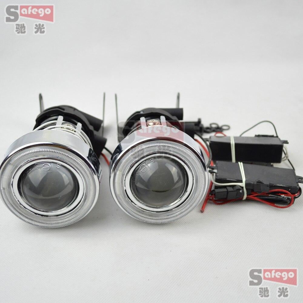 Объектив проектора с ангельским глазом Галогенные Противотуманные фары H3 Защитная крышка для вождения автомобиля противотуманные фары с г...