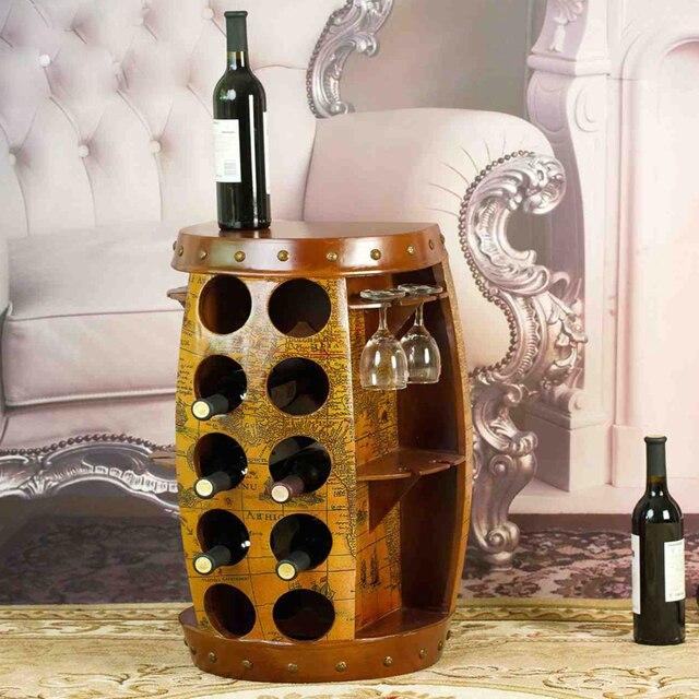 W superbly Stojak Na wino Drewniane Beczki Wiadro Homebrew Domu Dekoracji HP97