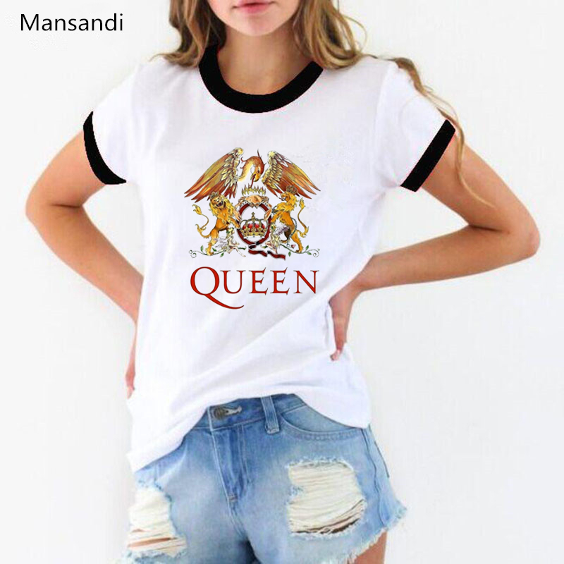Freddie Mercury   t     shirt   Women clothes 2019 Queen Band tshirt summer tops female   t  -  shirt   tumble Tops Tee   shirt   femme streetwear