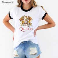 Freddie Mercury t shirt Women clothes 2019 Queen Band tshirt summer tops female t-shirt tumble Tops Tee shirt femme streetwear