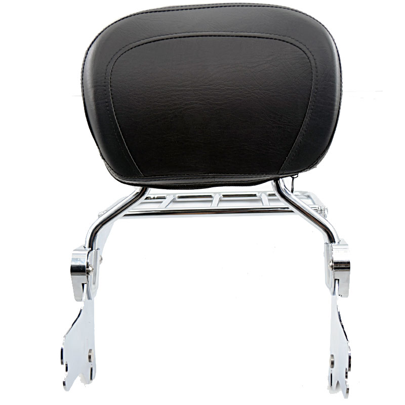 Motorcycle Backrest Sissy Bar Set with Luggage Rack For Harley Touring Road King Street Glide Electra Classic FLHT FLHX HD FLHTC motorcycle chrome luggage rack for harley touring road king street glide cvo road glide street electra glide flhr 2009 2017 16