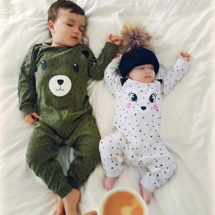 Cute Newborn Kid Baby Dot Boys Girls Outfits Clothes   Romper   Jumpsuit D50
