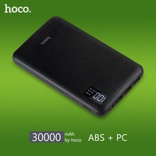 HOCO Portable Fast Charge 30000mAh Mobile Power Bank Three USB Output Lithium Polymer Batteries Digital Display