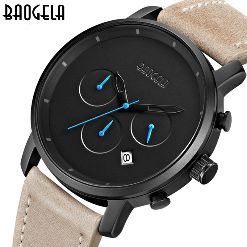 BAOGELA Fashion Mens Watches Top Brand Luxury Waterproof Men's Watch Racing Chronograph Sport Watch Men Watch relogio masculino