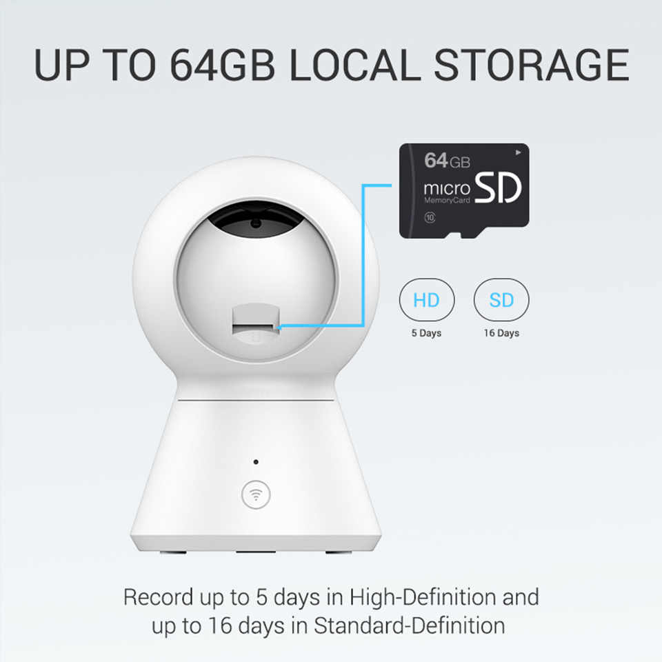 Powered by YI Smart Dome Camera 1080p Wifi Home Cam CCTV Pan/Tilt/Zoom Wireless IP Camera Security Surveillance Cam Cloud YI IOT