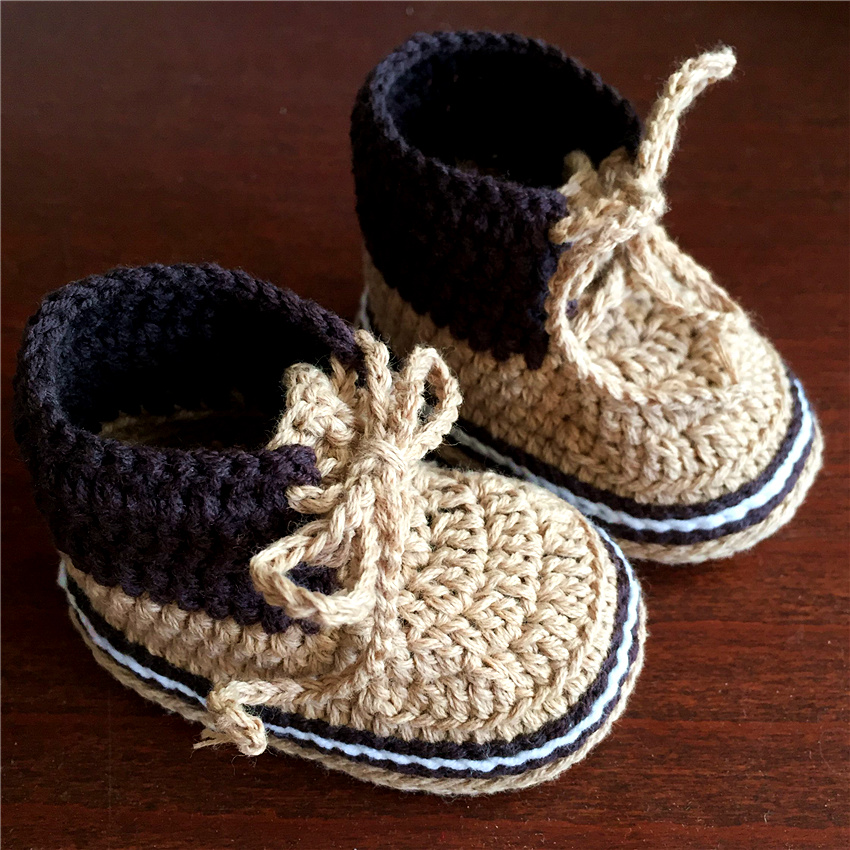 QYFLYXUE Crochet Baby Boots First Walker Shoes  Knit High-top Tall Boots Shoes 8cm 9cm 10cm 11cm