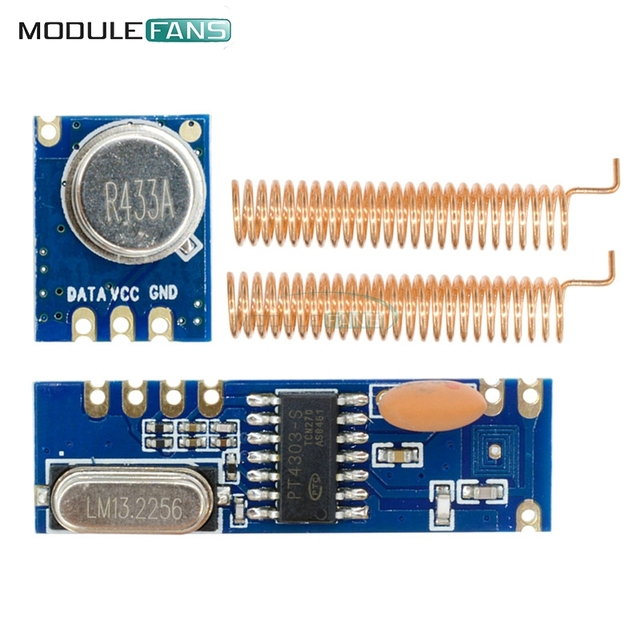 Wireless Remote Control MAX ASK Transmitter STX882 Receiver SRX882 Module Copper Spring Antenna High Micro Power Driver Board