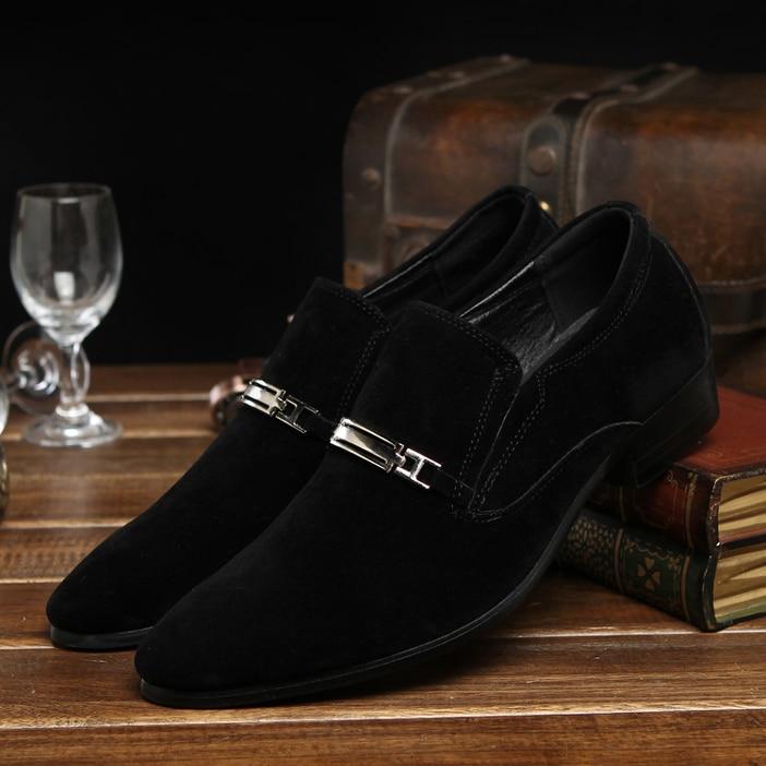 Décoration 01 Chaussures Oxford Mâle Robe Boucle Hommes Printemps En Cuir 02 Formelle De 2017 Automne Plat Daim Casual Métal Mode EDYHWI29
