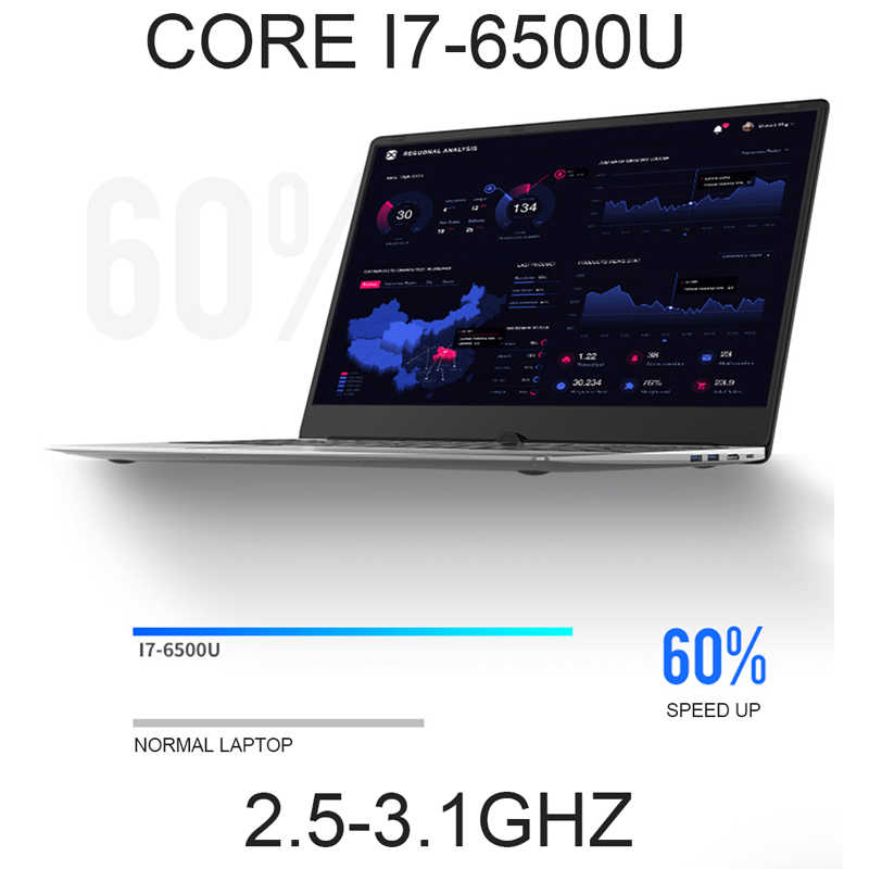 Core I7 Laptop 15.6 Inch dengan 8G RAM 1TB 512G 256G 128G SSD Laptop Gaming komputer dengan Backlit Keyboard IPS Logam Notebook