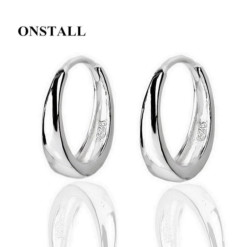 ONSTALL 925 Sterling Silver Stud Earrings Low Sensitive Earrings trendy Tide Mens Earrings Simple Earrings Jewelry