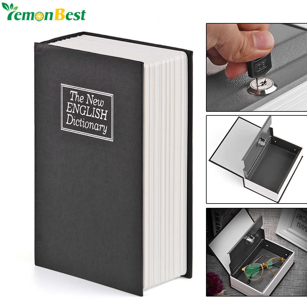 English Dictionary Safe Book Bank Shaped Piggy Bank Metal Coin Bank Money Box Figurines Saving Money Home Decor Gift For Kids