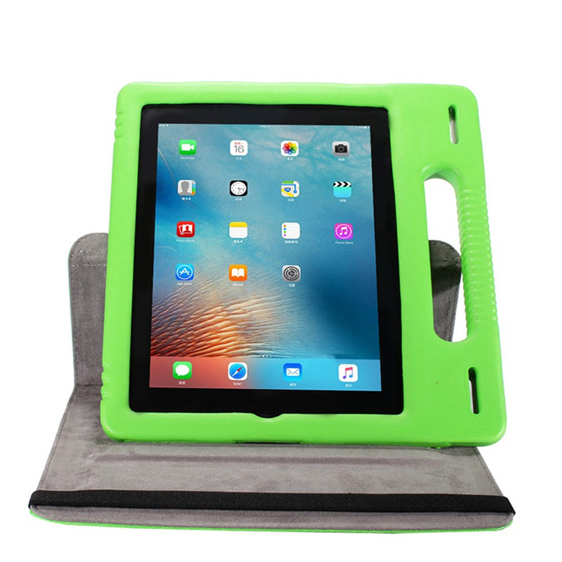 For Apple Ipad 2 3 4 Safe EVA Foam Shockproof Case For Ipad2 Ipad3 Ipad4 Children Kids Handle Stand Protective Cover Holder Capa