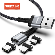 Magnetic Cable For iphone Charger for Lighting Micro USB Type C Fast Charging Microusb Type-C Magnet